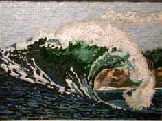 Landscape mosaic works in stone, smalti, and glass Mosaic Designs, Mosaic Patterns, Mosaic Art, Mosaic Glass, Stained Glass, Mosaic Projects, Mosaic Ideas, Mosaic Flowers, Art Mural