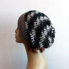 e41f8c9aeb171 Slouchy Hat Mens Hat Womens Winter Beanie Hand Crochet