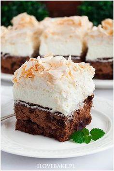 Zdjęcie: Ciasto bezowa śliwka w czekoladzie Best Dessert Recipes, No Bake Desserts, Cake Recipes, Polish Desserts, Polish Recipes, Food Cakes, Fat Foods, Sweet Cakes, Homemade Cakes