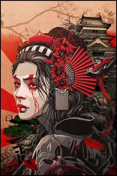 DeviantArt is the world's largest online social community for artists and art enthusiasts, allowing people to connect through the creation and sharing of art. Japanese Pop Art, Japanese Artwork, Japanese Tattoo Art, Japanese Beauty, Geisha Kunst, Geisha Art, Geisha Drawing, Kunst Inspo, Art Inspo