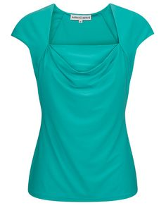 Spa Stretch Jersey Cowl Neck Top Cowl Neck Top, Tunic Blouse, Bodice, Spa, Product Description, Quilts, Clothing, Women, Style