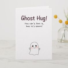 diy birthday cards for friends Halloween Ghost Hug Greeting Card, Cute!