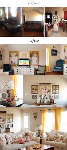 ©Lauren Ammerman; Amelie sofas from Haverty's; beautiful photography on her walls @Leah Cook  :)
