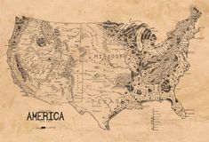 Apparently tolkien drew  map of the US. What's cool about his style is that while the map is of plan view, geographic features are represented with perspectival symbols. Makes for a pretty picture LCLA.  Tolkien, J. (1953) A Map of the United States.  http://atlantislsc.com/tolkien-middle-earth-map/tolkien-middle-earth-map-a-map-the-united-states-drawn-in-style-lord-rings-incredible/