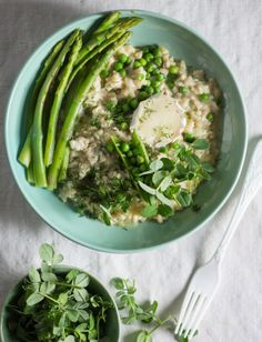 and Creamy yummyiness! Bread N Butter, Fennel, Food Styling, Asparagus, Green Beans, Risotto, Food Photography, Seeds, Vegetables