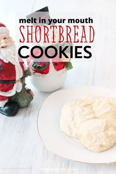 The best melt in your mouth shortbread cookies ever. Shortbread Recipes, Cookies Ingredients, Shortbread Cookies, Sweet Cookies, Drop Cookies, Cake Mix Cookies, Candy Recipes, Cookie Recipes, Cookies
