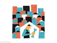 Illustration for an essay in Monocle magazine, issue 65. Ryo Takemasa