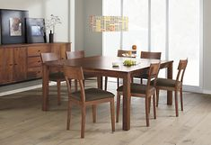 Andover Dining Tables - Andover Walnut Table with Pike Chairs - Modern Dining Room Furniture - Room & Board