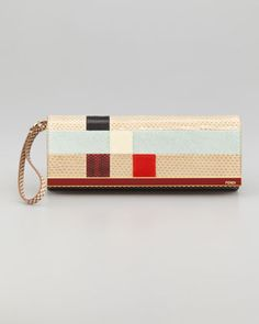 Rush Colorblock Clutch Bag by Fendi at Neiman Marcus.