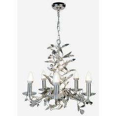 Premium Collection 5 Light Clear Glass Chandelier. from Homebase ...