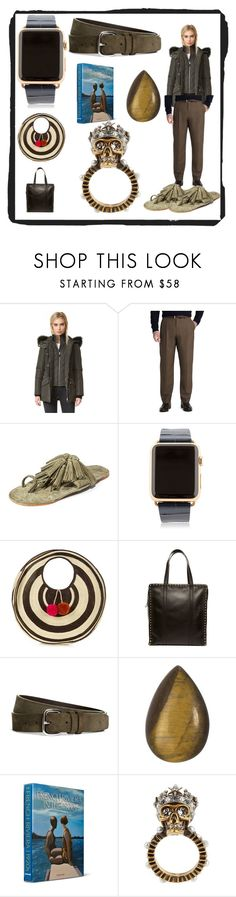 """""""fashion is fad but style is eternal"""" by denisee-denisee ❤ liked on Polyvore featuring Mackage, Brooks Brothers, Figue, Hadoro, Sophie Anderson, Valentino, Loquet, Assouline Publishing, Alexander McQueen and vintage"""