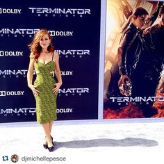 Michelle Pesce rocking the red carpet in our Slim Bond Cuffs and Triangle Earrings  at the @paramountpics #terminatorgenisys premiere  #Repost @djmichellepesce with @repostapp. ・・・ Last one... Promise!  Sending love to this amazing team-  #terminatorgenisys premiere. #MichellePesce