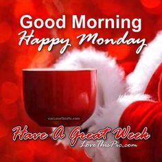Santa Christmas With Coffee Good Morning Monday