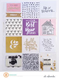 A page like this would be good next to a full photo (Ali Edwards Project Life 6x8, Project Life Scrapbook, Project Life Layouts, Project Life Cards, Senior Scrapbook Ideas, Scrapbook Pages, Scrapbook Layouts, Layout Inspiration, Life Inspiration