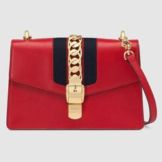 bdd886090d4e Gucci Sylvie detachable leather strap. Gucci SylvieSmooth LeatherCrossbody  BagShoulder ...