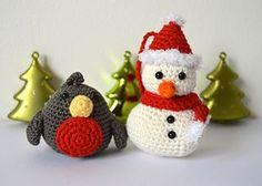Freie Crochet Patterns: Freie Crochet Patterns Schneemänner