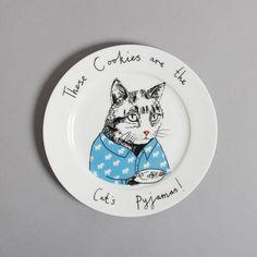 Plaque latérale de chats Pyjamas par jimbobart sur Etsy