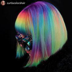 Casual Hairstyles, Older Women Hairstyles, Everyday Hairstyles, African Hairstyles, Hairstyles With Bangs, Neon Hair, Pastel Hair, Vivid Hair Color, Color Pop