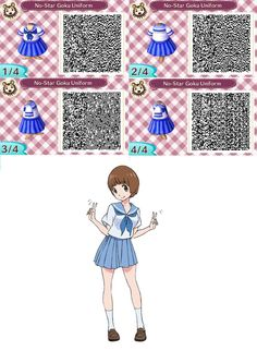 :NanaDraws: ACNL QR Code 14 - NO-STAR Goku Uniform by SuperMarioFan888 on DeviantArt