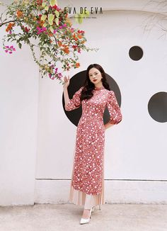 Ao Dai Cach Tan, Cheongsam, Retro Dress, Sewing Patterns, My Style, Photoshoot Style, Work Clothes, Inspiration, Model
