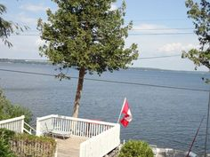 Looking down toward the lake from the cottage veranda today.