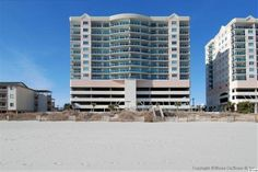 Beautifully furnished and spacious 2BR/2BA in the ocean-front building of Blue Water Keyes, the premier boutique property in North Myrtle Beach. Enjoy 2 fabulous, panoramic views from the ocean front to the city lights of Myrtle Beach from your private glass paneled balcony. Short walk to Molly Darcy's Beach Bar & Grill for dining and entertainment. Granite counter tops, elegant furnishings, Jacuzzi-style tub, full-size washer & dryer and tile...
