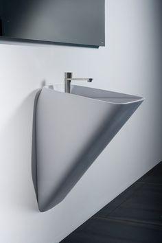 For bathrooms except master bathroom Modern Bathroom Decor, Bathroom Interior Design, Bathroom Furniture, House Furniture Design, House Design, Bathroom Mixer Taps, Toilette Design, Basin Design, Restroom Design