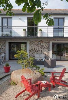 Garde-corps réalisé par l'entreprise 'Métafer' pour la maison d'hôtes 'House Martin' en Bretagne