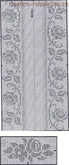 Watch The Video Splendid Crochet a Puff Flower Ideas. Phenomenal Crochet a Puff Flower Ideas. Filet Crochet Charts, Crochet Motifs, Crochet Borders, Knitting Charts, Thread Crochet, Crochet Doilies, Cross Stitch Borders, Cross Stitch Flowers, Cross Stitching