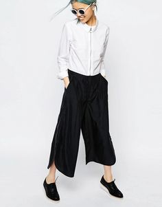 Monki | Monki Wide Leg Side Split Pant