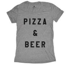 Pizza and Beer - Grey