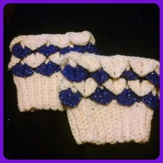 Hand crocheted boot cuffs, soft cream and glittery purple cuffs will keep your calves was and dress up any boot. | Shop this product here: http://spreesy.com/girlsjustwannahavfunbowtique/8 | Shop all of our products at http://spreesy.com/girlsjustwannahavfunbowtique    | Pinterest selling powered by Spreesy.com