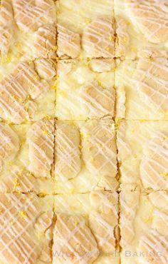 Lemon Cheesecake Kuchen Bars