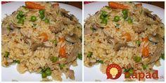 Tento recept mám veľmi rada, pretože rizoto je vždy výborné a hotové doslova bez práce. odporúčam aj na bežné varenie ryže, ak máte pocit, že sa ryža zvykne pripáliť, alebo je zlepená a rozvarená.