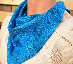 Lightweight Bandana, can be worn in different styles Description: Handmade / Made to order Original Shweshwe cotton) x… Different Styles, Bandana, Pockets, Cotton, How To Wear, Beauty, Beautiful, Bandanas, Beauty Illustration