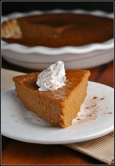 Meatless Monday and Recipe Repeat: Crustless Pumpkin Pie/cc