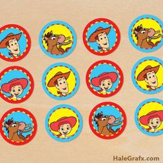 FREE Printable Toy Story Woody and Jessie Cupcake Toppers Ideas Fiestas  Tematicas 5226eae9f55