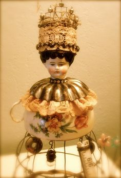 Doll Head / Teacup Re-purpose