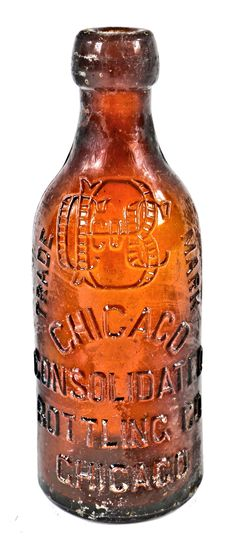 hard to find late nineteenth century privy dug and intact amber blobtop bottle fabricated for the chicago consolidated bottling company Antique Glass Bottles, Vintage Perfume Bottles, Bottles And Jars, Vintage Mason Jars, Lighted Wine Bottles, Canning Jars, Glass Collection, Apothecary, Antiques