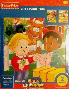 Fisher Price Little People 12 Piece Frame Tray Puzzle - Farm - 2 Pack * Read more  at the image link.
