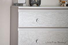 Crackled paint dresser makeover - Ikea Malm Hack - Little Free Monkeys