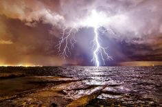 Lightning over Tampa Bay - August 1, 2013.