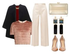 A fashion look from March 2017 featuring short-sleeve shirt, Burberry and high-waist trousers. Browse and shop related looks. Judith Leiber, Shirt Sleeves, The Row, Burberry, Trousers, Fashion Looks, Polyvore, Gold, Shirts