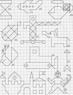 Easy to do characters to convert for quilting. Graph Paper Drawings, Graph Paper Art, Symmetry Worksheets, Discovery Toys, Blackwork Embroidery, Math Art, Zentangle Patterns, Kids And Parenting, Art Lessons