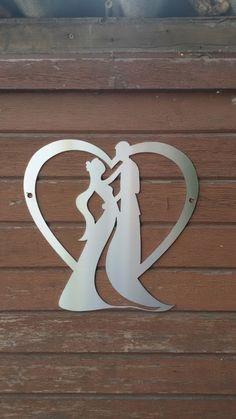 Herz mit Paar aus Edelstahl