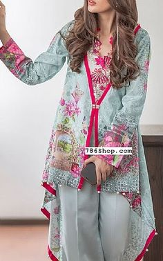 Buy Designer Winter Clothing from Pakistan, made with linen, marina, khaddar, ka. Simple Pakistani Dresses, Pakistani Fashion Casual, Pakistani Dress Design, Pakistani Outfits, Stylish Dress Designs, Designs For Dresses, Stylish Dresses, Casual Dresses, Frock Fashion