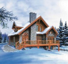 Vacation House Plan chp-10483 at COOLhouseplans.com
