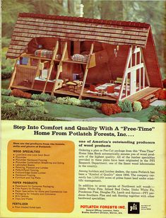 1962 Home Building Plan Service A Frame House Plans, A Frame Cabin, Tiny House Plans, Tiny House Cabin, Cabin Homes, Log Homes, Cabins And Cottages, Cabin Plans, Cabins In The Woods