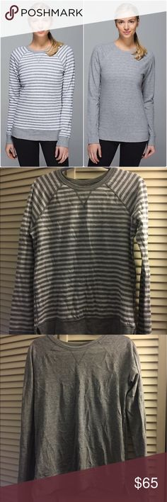 Lululemon Open Your Heart LS top EUC Lululemon Open Your Heart LS top, size 8. Reversible with Lululemon logo on both sides! Super soft and comfortable. Hits at about hip length lululemon athletica Tops Tees - Long Sleeve