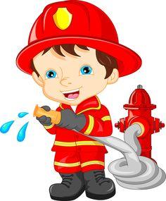 Illustration Enfant New online shop for fire brigade toys. Firefighter Clipart, Art For Kids, Crafts For Kids, Community Helpers Preschool, Fireman Party, Flashcards For Kids, School Frame, Teaching Aids, Cartoon Kids